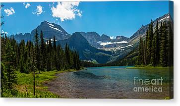 Lazy Afternoon At Lake Josephine Canvas Print