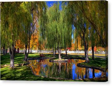 Lazy Days Of Autumn Canvas Print by Donna Kennedy