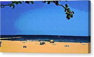 Lazy Days On Beach Canvas Print