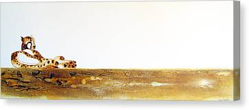 Lazy Dayz Cheetah - Original Artwork Canvas Print