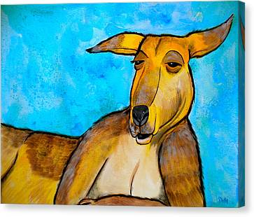 Lazy Roo Canvas Print by Debi Starr