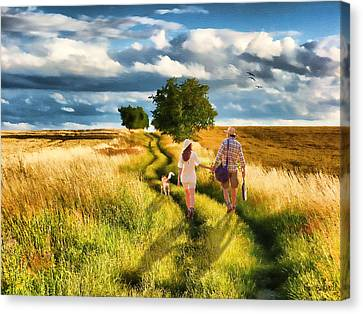 Lazy Summer Afternoon Canvas Print by Tom Schmidt