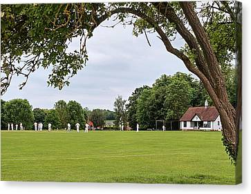 Lazy Sunday Afternoon - Cricket On The Village Green Canvas Print