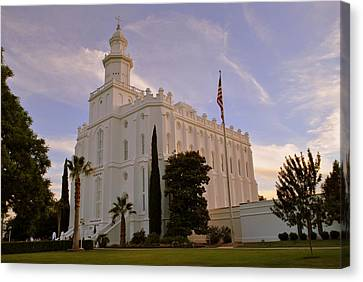 St. George Temple Canvas Print - Lds Temple St George Utah by Nathan Abbott