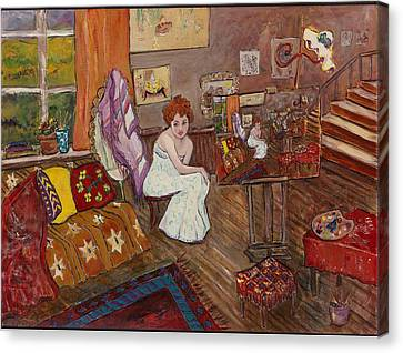 Canvas Print featuring the painting Le Atelier by Elaine Elliott
