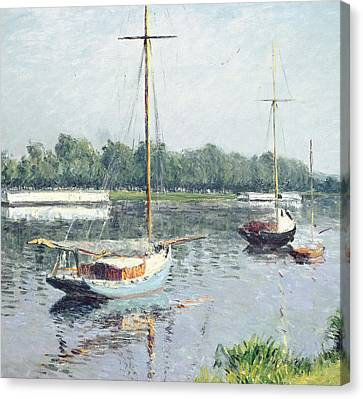 Le Bassin D'argenteuil Canvas Print by Gustave Caillebotte
