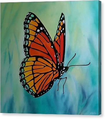 Le Beau Papillon Canvas Print by Jo Appleby