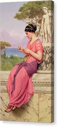 Le Billet Doux Canvas Print by John William Godward