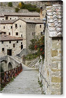 Le Celle Outside Cortona Italy Canvas Print by Sally Ross