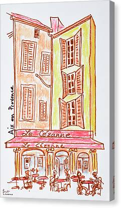 Southern France Canvas Print - Le Cezanne Cafe, Aix En Provence, France by Richard Lawrence