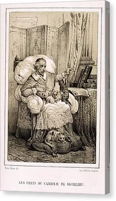 Le Chats De Cardinal Richelieu Canvas Print by British Library