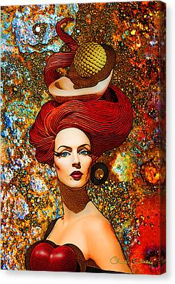 Le Cheveux Rouges Canvas Print by Chuck Staley