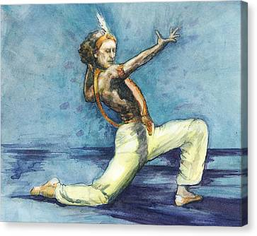 Canvas Print featuring the painting Le Corsaire by Lora Serra