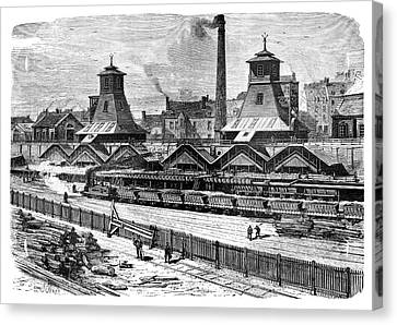 1874 Canvas Print - Le Creusot Coal Mines by Science Photo Library