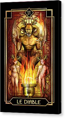 Canvas Print featuring the drawing Le Diable by Ciro Marchetti