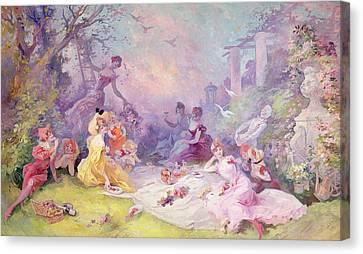 Le Déjeuner Sur Lherbe, 1904 Canvas Print by Jules Cheret