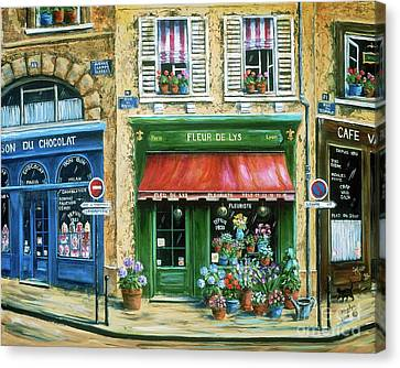 Chocolate Canvas Print - Le Fleuriste by Marilyn Dunlap