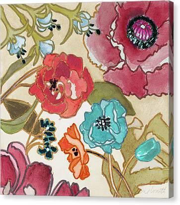 Le Jardin Canvas Print - Le Jardin Colorful II by Lanie Loreth