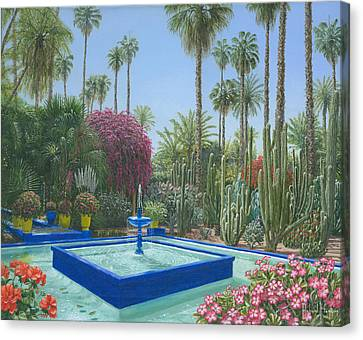 Le Jardin Majorelle Marrakech Morocco Canvas Print by Richard Harpum