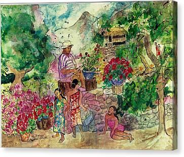 Le Jardiniere Canvas Print