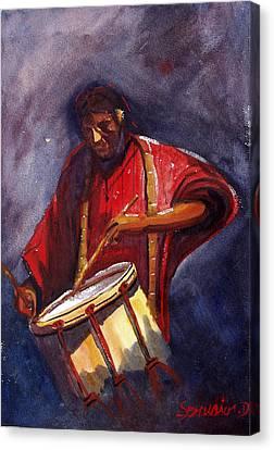 Le Joueur De Tambour  The Drum Player Canvas Print by Dominique Serusier