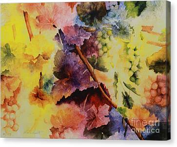 Grapevines Canvas Print - Le Magie D' Automne by Maria Hunt