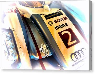 Tron Canvas Print - Le Mans 2013 Audi E-tron Quatro R18h by Olivier Le Queinec