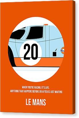 Le Mans Poster 2 Canvas Print by Naxart Studio