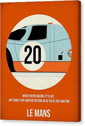 Show Canvas Print - Le Mans Poster by Naxart Studio