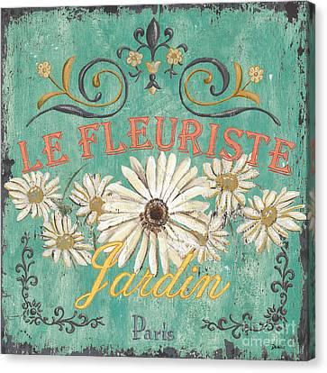 Le Marche Aux Fleurs 6 Canvas Print by Debbie DeWitt