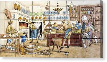 Le Patissier By Diderot Canvas Print by Julia Sweda