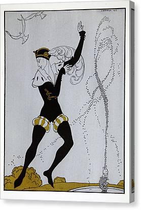 Le Pavillion D'armider Canvas Print by Georges Barbier