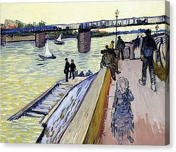 Le Pont De Trinquetaille Canvas Print by Vincent van Gogh