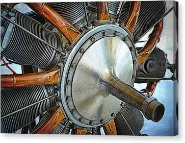 Le Rhone C-9j Engine Canvas Print by Michelle Calkins