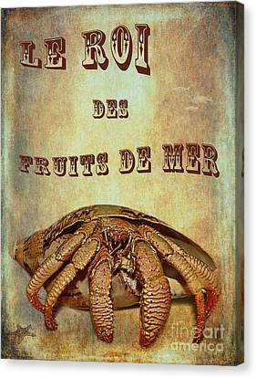 Le Roi Des Fruits De Mer Canvas Print