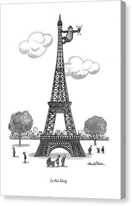 Le Roi Kong Canvas Print by J.B. Handelsman