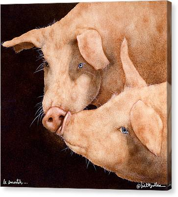 Le Smooch Canvas Print