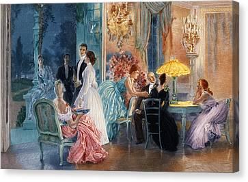 Le Soir Au Chateau Canvas Print