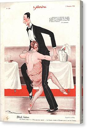 Le Sourire 1926 1920s France  Black Canvas Print by The Advertising Archives