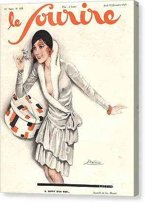 Le Sourire 1929 1920s France Mistletoe Canvas Print by The Advertising Archives
