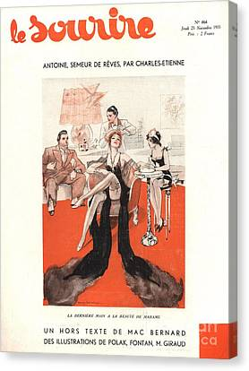 Magazine Canvas Print - Le Sourire 1933 1930s France Glamour by The Advertising Archives