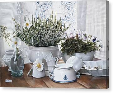 Le Tazze Rovesciate Canvas Print by Danka Weitzen