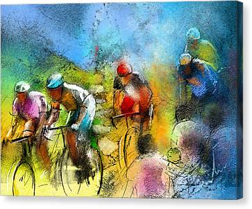 Le Tour De France 01 Canvas Print by Miki De Goodaboom