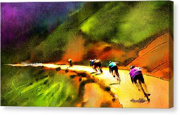 Le Tour De France 02 Canvas Print by Miki De Goodaboom