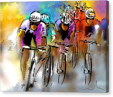 Le Tour De France 03 Canvas Print by Miki De Goodaboom
