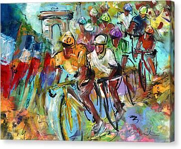 Le Tour De France Madness 02 Canvas Print by Miki De Goodaboom