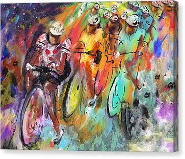 Le Tour De France Madness Canvas Print by Miki De Goodaboom