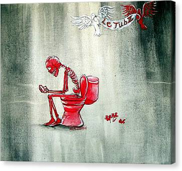 Toilet Canvas Print - Le Tub II by Heather Calderon