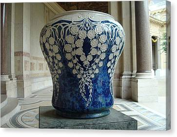 Canvas Print featuring the photograph Le Vase Bleu by Kay Gilley