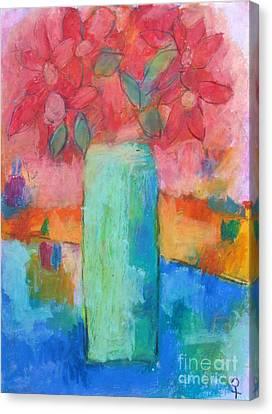 Le Vase Jardin Canvas Print by Venus